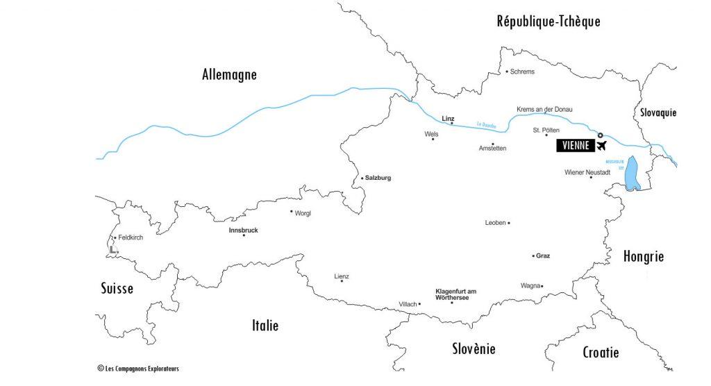 carte Autriche
