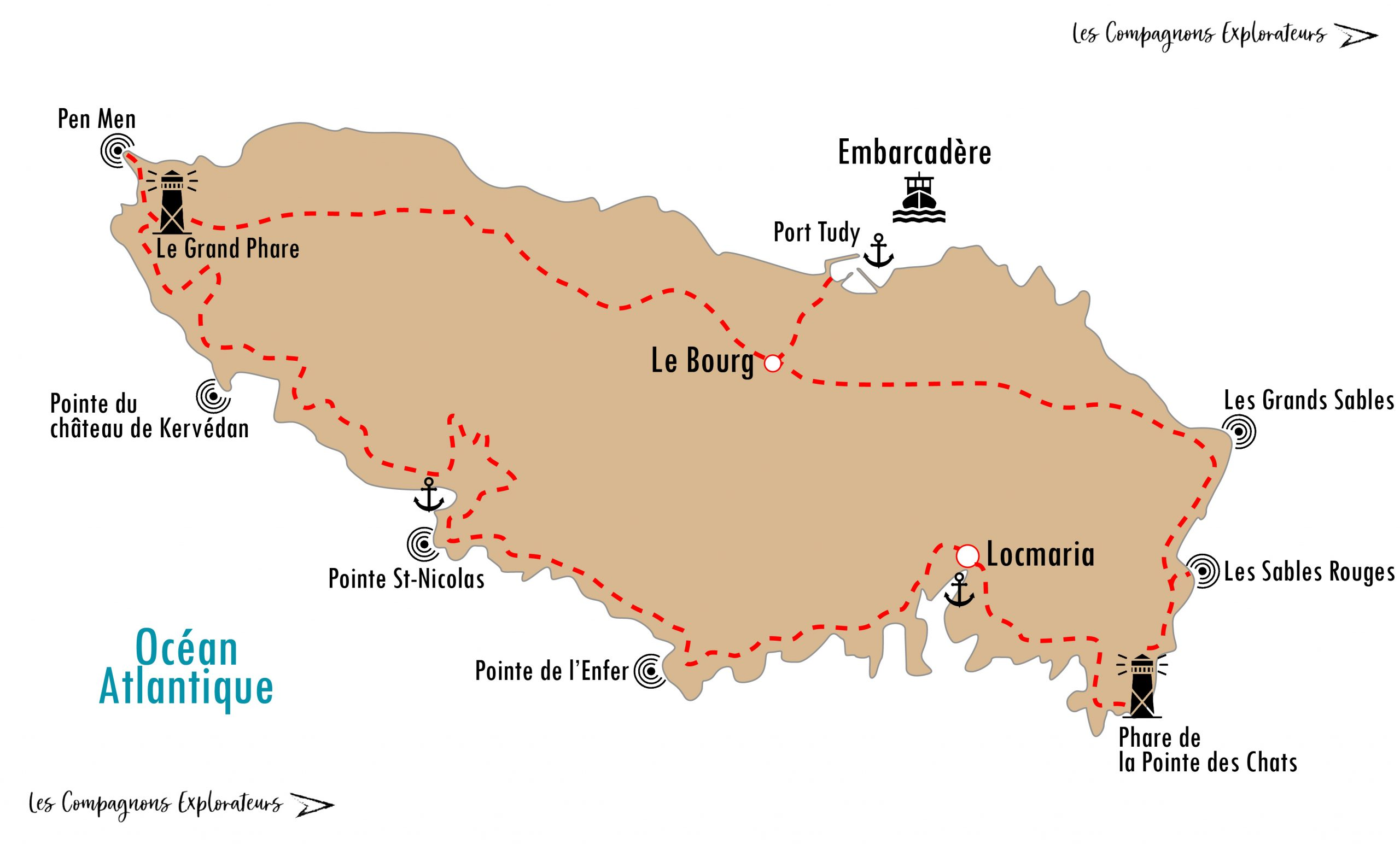 Carte île de Groix