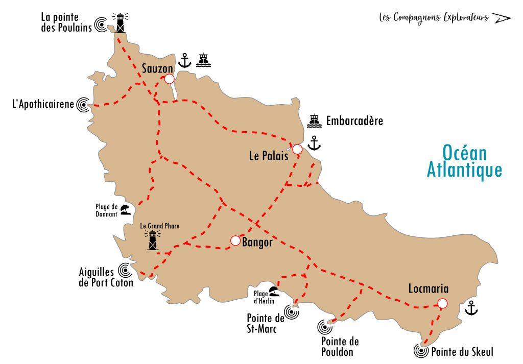 carte Belle île