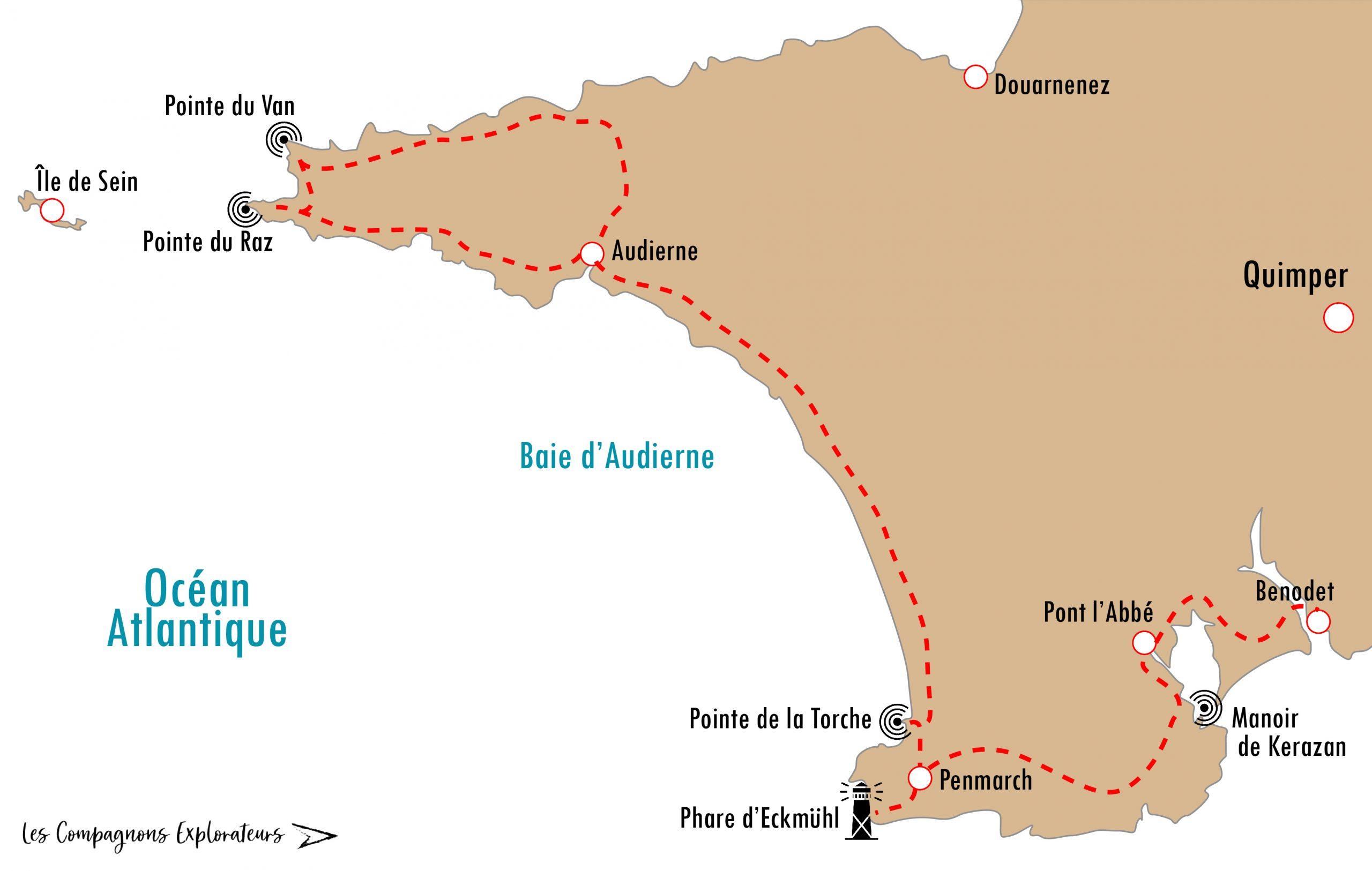 Carte Baie d'Audierne
