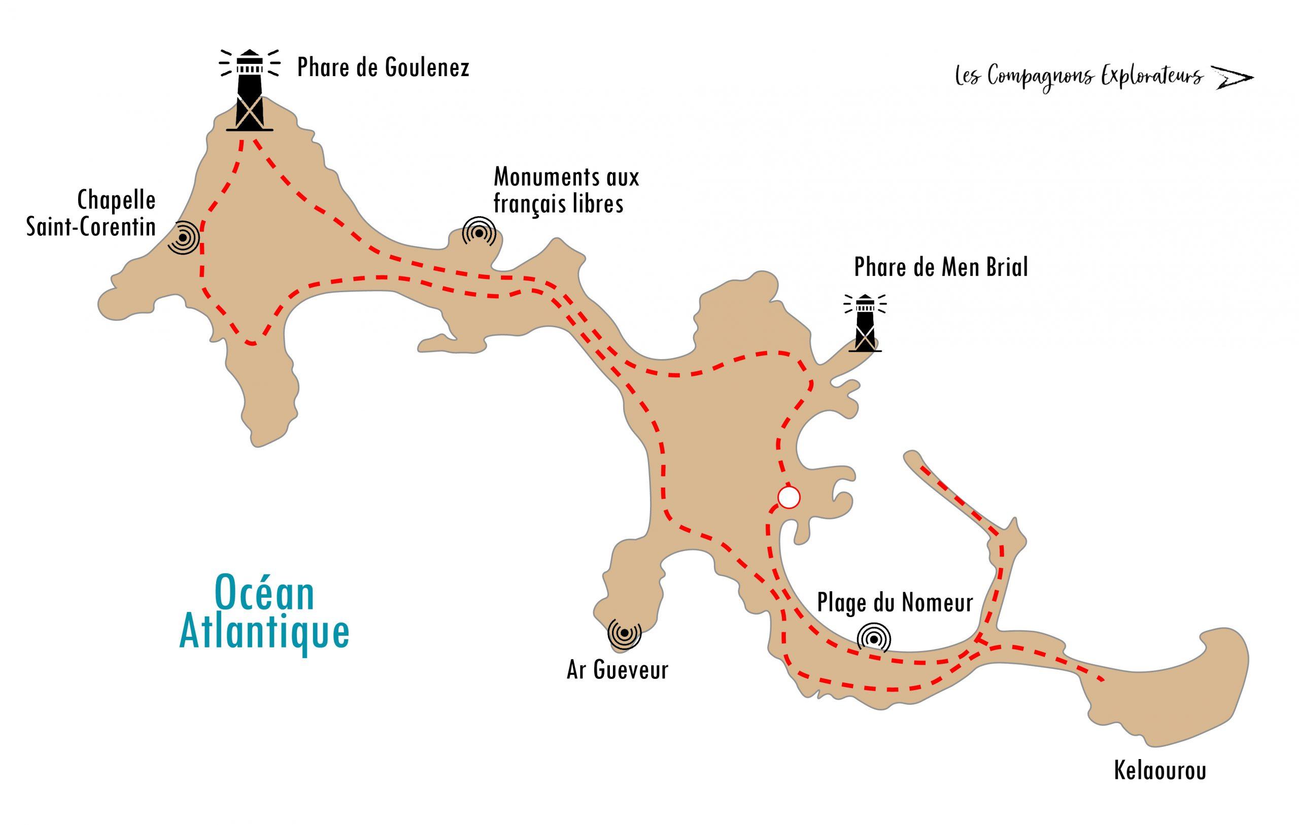 Île de Sein Carte